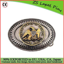 Personalized One Dollar Coin Belt Buckle