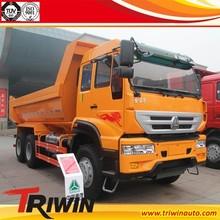 EURO 3 4 diesel engine 249KW 340hp 6x4 dumping sand dump truck 25tons load volume
