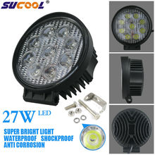 12V 27W led work light car led off road light auto motorcycle light