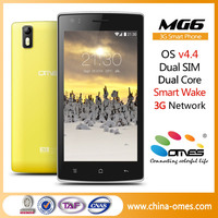 Support Smart Wake FUnction 5'' MTK6572 Dual Core 3G Mobile Phone 1500 Price