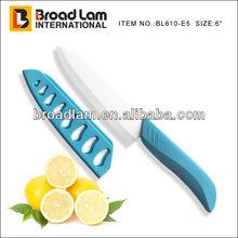 "Super Sharp 6"" E-handle Ceramic Chef knife with PP sheath blade protector"