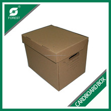 ACCEPT CUSTOM ORDER BROWN CORRUGATED CARDBOARD STORGE PACKING BOX WITH INSTRUCTIONS PRINTING
