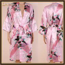 wholesales PayPal transfer woman silk satin kimono robes ,bathrobes S M L XL XXL 3XL Stock