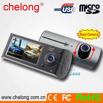 AC GPS 搭載 高画質 HD 2カメラ前後レンズと赤外線搭載常時録画のドライブレコーダー