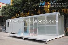 casa prefabricada de vidrio