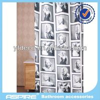 Polyester sex woman design curtain
