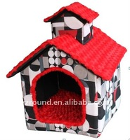 Plush duplex villa pet toy