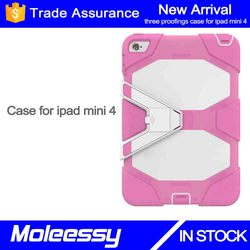 New arrival 3 in 1 solid silicone protector cases for ipad mini 4 7.9 inch
