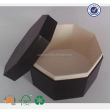 U color made black paper polygon box