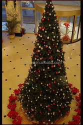 110v/50hz 3M IP65 cone LED christmas tree with 800pcs warm white light,8 cm in diameter red/gold plating ball 120 each