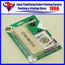 High Quality Custom blister poker set card K and DOMINO customized paper playing card printing