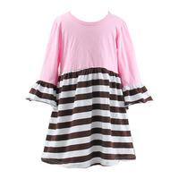 Little girls long sleeve girls strip smocked bishop dress children wholesale smocked dresses