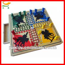 Juego de madera de ajedrez- juego de mesa piezas