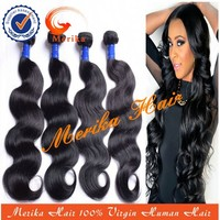 Wholesale body wave indian hair weave, natural color high quality virgin indain hair