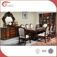 Luxury antique dining room table set, cheap wood dining set