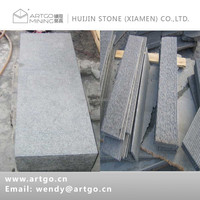G684 natural black basalt stone step, kerbstone