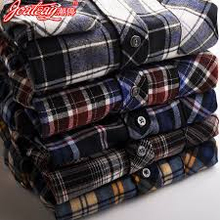 100% cotton men's yarn dyed flannel check shirt