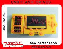 2G Wholesale Promotional Gadget Individualized Auto-run Yellow Silicon Wireless Radio USB Flash Drive