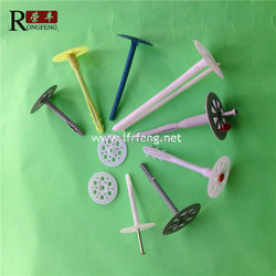 plastic insulation fixing nail with plastic core, steel nails inner