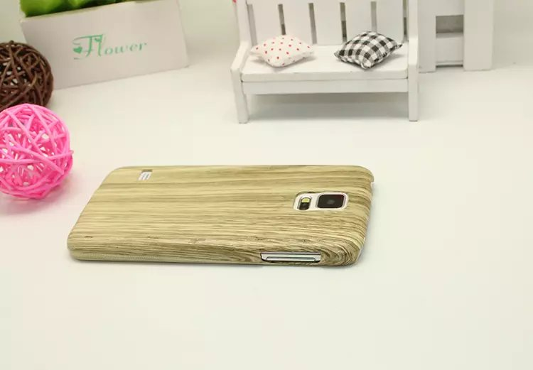 Plastic Wood like mobile phone case for samsung galaxy S5 phone shell