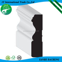 Readily accepts paints white mdf baseboard moulding