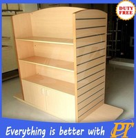 Retail store design wood rack display shelf for clothing store