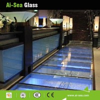 Ai-Sea 8mm 10mm 12mm Low Price Standard Cut To Sizes Tempered Glass Railing Glasses Toughened Glass KTV Floor Splashback Glass