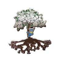 Customized made metal Grateful Dead bear climb tree lapel pin