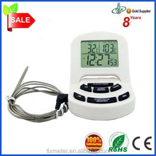 Digital Meat Probe Thermometer with Timer and Clock for Oven and Cooking, Includes 1 Extra Sensor for Safety