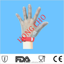 stainless steel wire mesh cut protection gloves