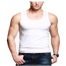 2015 high quality Mens Wholesale Plain White Tank Top Manufacturer