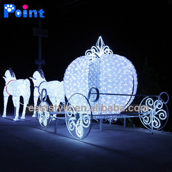 Christmas Lighted Horse Carriage Outdoor Decoration : Design horse carriage and outdoor christmas decoration