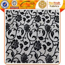 100% polyester samples flock linen like furniture fabric for sofas