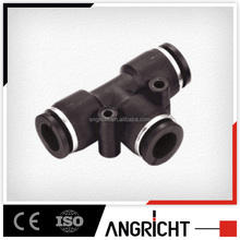 A107 Tee type professional plastic one touch quick connect air push to connect fitting