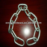 DIN5686 Link chain with zinc plated or hot deep galvanized