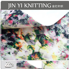 Digital print fabric polyester / Polyester Spandex Air Layer Knitted Scuba Women Newest Designer scuba knitted Fabric