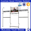 stainless steel almari for show room design clothing display frame