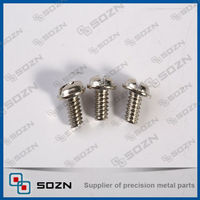 round head phillip cross recess type screw, stainless steel round head screw for machine