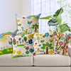 countryside style flower grass butterfly green tree whosale spring 100% cotton cushion covers/pillow covers