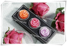 hot sales china factory aroma rose shape tealight candles