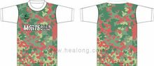 Healong Manufacturer Retro Girls Blank Ruffle Sleeve T Shirt