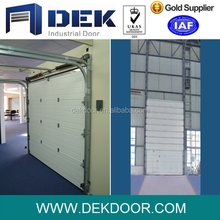 Fire rated insulated ovehead sectional door