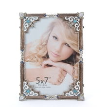 HOMEQI Latest Design Of Wedding Picture Frame For Wedding Favor With Gold Heart Flower Decorative