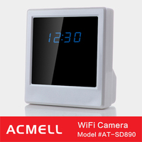 SD890 clock camera Export Worldwide Countries H.264 wifi wall clock camera for wholesales