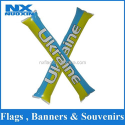 high quality PE custom Singapore flag inflatable stick wholesale for national day cheering