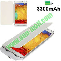 3300mAh Power Bank Leather Battery Charger Case for Samsung Galaxy Note 3 / N9000 with Battery Indicator