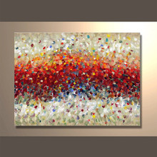 Gold art of Handmade Colourful abstract oil painting