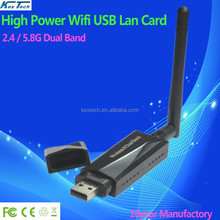 2015 Factory new High power 802.11a 600mbps 802.11a 2.4ghz / 5ghz dual band 5.8G wireless USB wifi adapter