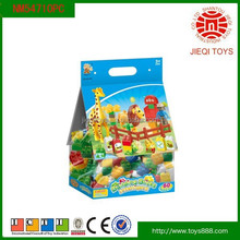 2015 quality products 60pcs colorful animal blocks toys for kids with EN71/8P/HR4040