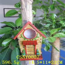 Eco-friendly Resin Decorative Hanging Bird House